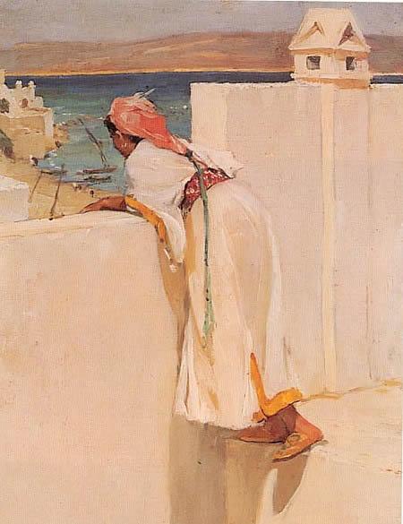 Alexander Mann-Un regard sur le monde extérieur, Maroc  1892
